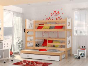 Двухъярусная кровать с выдвижным спальным местом!