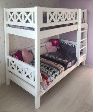Двухъярусные кровати из массива Лофт Кантри Прованс!