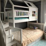 Кровать домик двухъярусная купить в магазине!