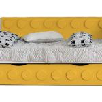 Детская кровать Лего в виде дивана c выдвижным спальным местом