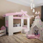 Кровать домик для девочки!