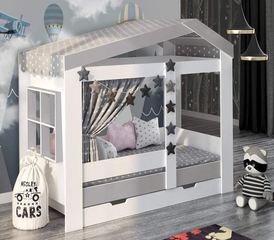 Кровать домик с окошком Сказка недорого!