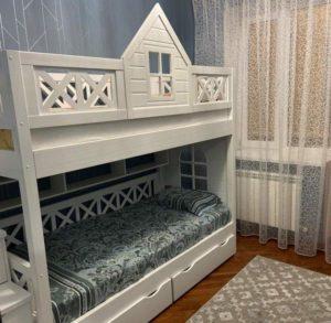Детские двухъярусные кровати Домики из дерева!