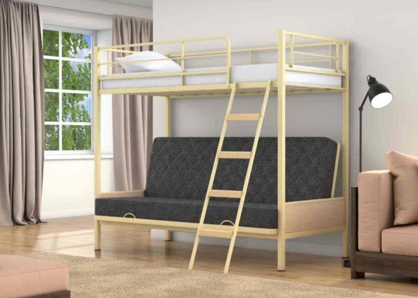 Кровать чердак металлическая Лофт-2!
