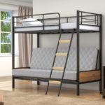 Кровать чердак металлическим каркасом
