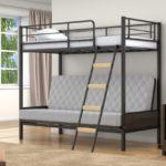 Металлическая кровать чердак двуспальная