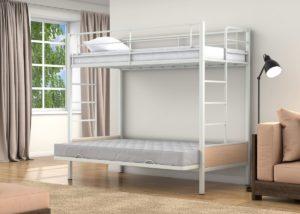 Кровать двухъярусная металлическая цена