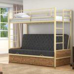 Детская раздвижная металлическая кровать