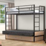 Кровать двухъярусная металлическая ящиками