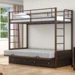 Купить двухъярусную кровать +на авито металлическую