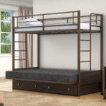 Двухъярусная металлическая кровать для детей купить