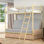 Купить детскую железную двухъярусную кровать