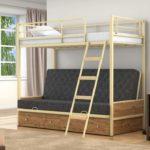 Кровать детская железная белая