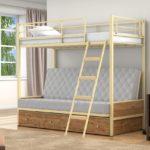 Детская раздвижная железная кровать