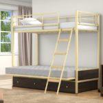 Икеа кровать белая железная детская