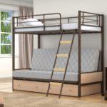 Двухъярусные металлические кровати фото
