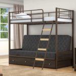 Кровать двухъярусная металлическая купить в Москве недорого