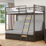 Купить двухъярусную кровать +для детей металлическая