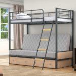 Купить металлическую двухъярусную кровать диван