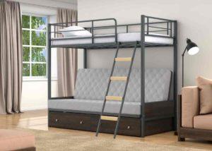 Купить детскую металлическую двухъярусную кровать