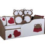 Яркий и красочный детский диван Мишка с ящиком для хранения!