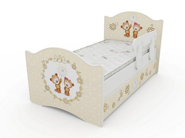 Детская кровать Мишки с бортиком и ящиком в комплекте. Жми!