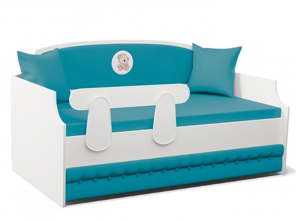 Кровать тахта купить с мягкой спинкой для мальчиков!