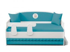 Кровать Тахта подростковая с мягкой спинкой