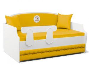 Детская кровать тахта с мягкой спинкой Тедди! Лучшая цена!
