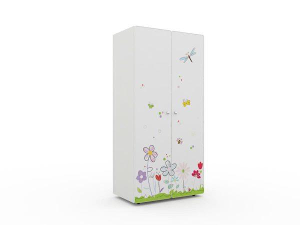Детские шкафы для одежды белые с нежным рисунком! Доставка РФ