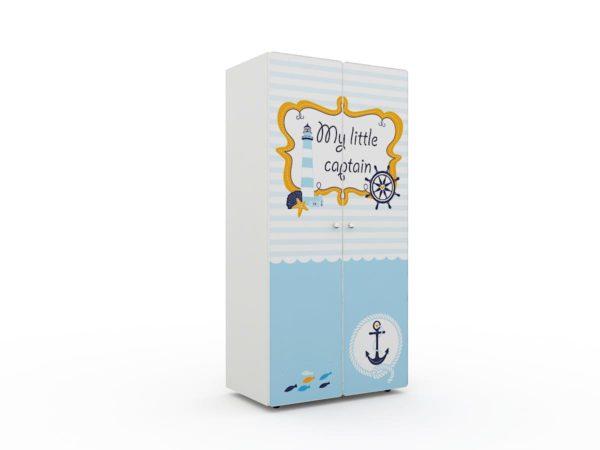 Купить белый шкаф в детскую со стильным декором! Доставка РФ