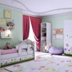 Детская кровати и мебель в одном стиле!