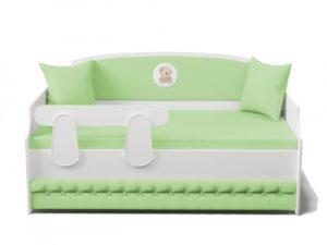 Детская кровать диван с мягкой спинкой