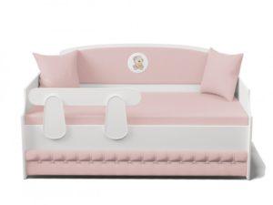 Кровать тахта с мягкой спинкой Тедди